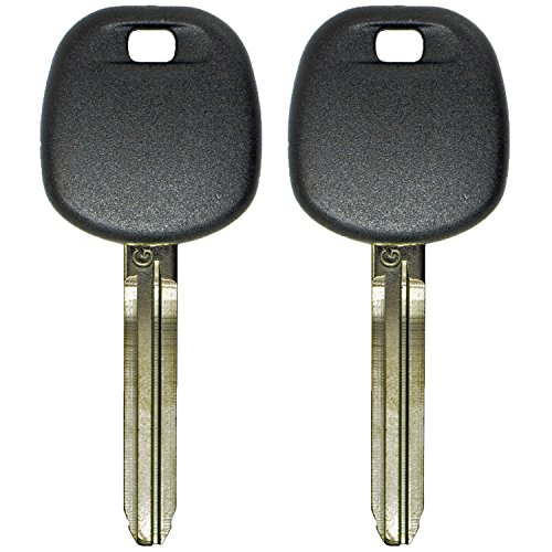 QualityKeylessPlus Two Replacement Transponder G Chip Keys for Toyota Models with Part Number TOY44GPT
