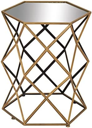 Reviewed: Deco 79 Metal Mirror Accent Table