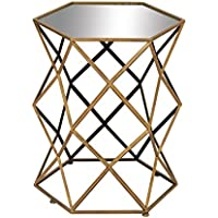 Deco 79 54350 Metal Mirror Accent Table, 20 x 25