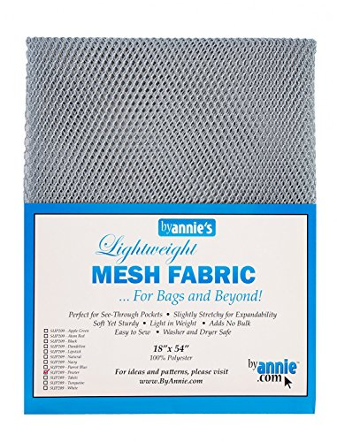 Annies by Lightweight Mesh Fabric LTWT 18x54 Pewter (Pewter Fabric)