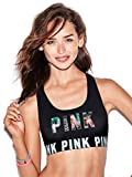 Victoria's Secret PINK Logo Racerback Bra Top Tropical Graphic (Small)