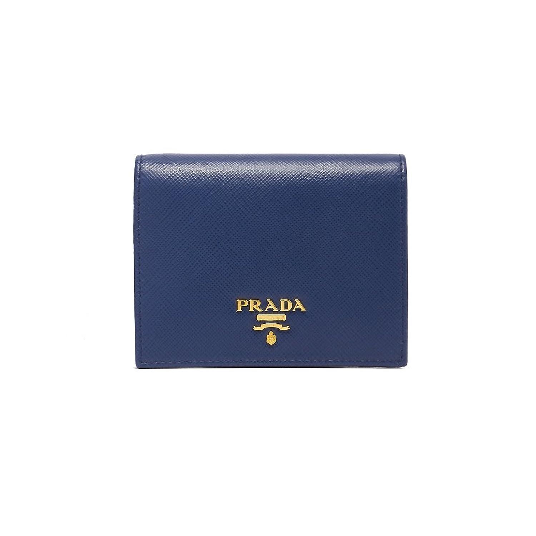 (プラダ) PRADA LEATHER WALLET 財布 1MV204QWA レディース BLUETTE F0016 ブルー B07DQH7FT3