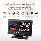 FidgetFidget Digital Table Clock Calendar Thermometer Sound Sensor Light up LCD Hygrometer GL