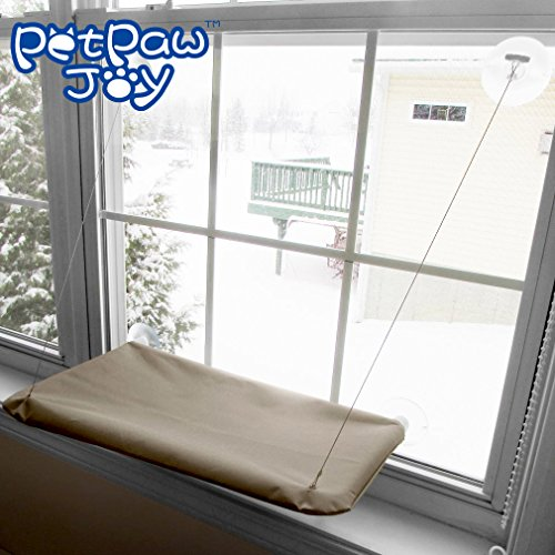 SUNNY SEAT Cat Bed, Cat Window Perch Window Seat Suction Cups Space Saving Cat Hammock Pet Resting Seat Safety Cat Shelves – Providing all Around 360° Sunbath for Cats Weighted up to 30lb