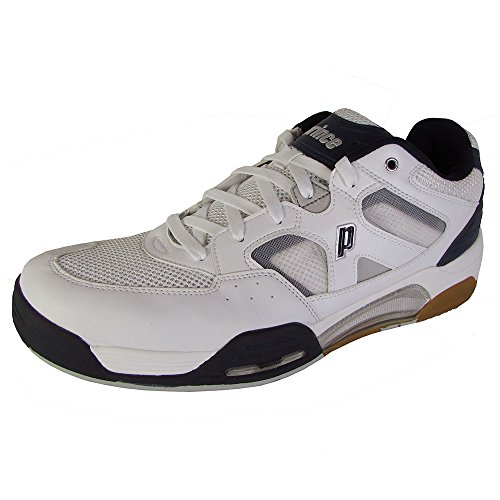 Prince NFS Attack Men's Squash Shoe (White/Navy/Silver, 13)