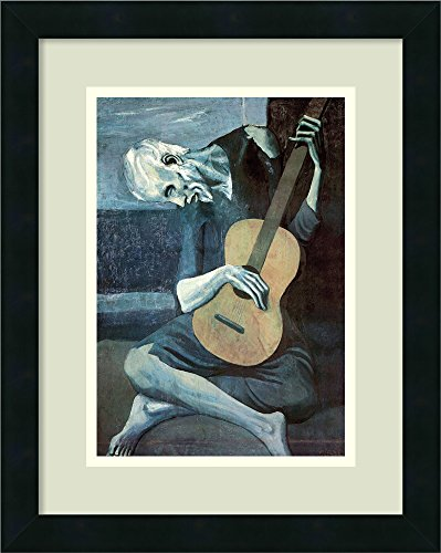 Amanti Art Framed Home Wall Art Prints | The The Old Guitarist, 1903 by Pablo Picasso | Modern Contemporary, Casual, Classic Decor, The 57556