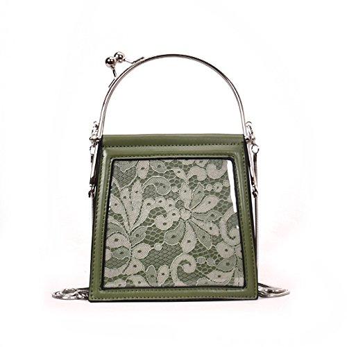 Spring Bolsas De green Hombro Bolsa incense Pequeñas Bolso Woman Hombro Blanco Lace De xawz0nXq