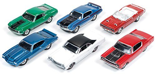 1967 Chevelle Convertible - Muscle Cars USA Release 1B Set of 6 cars 1/64 by Johnny Lightning JLMC001-B