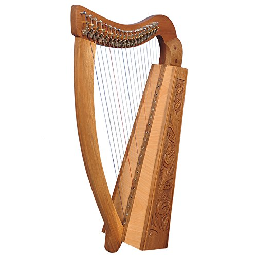 19 Saiten Trinity Walnuss Harfe, 19 Strings Celtic Irish Harp, Irish lever Harp Muzikkon