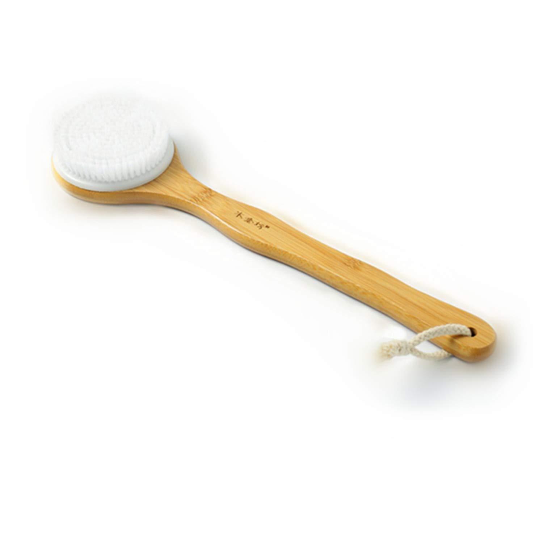 MEIYIJIA Badebürste Langem Griff Rückenschrubber Entfernen Sie den Schmutz die tote Haut und das unnötige Fett. (Material: Bambus/Kunsthaar) YUSAN-003