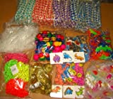 1440 CARNIVAL TOYS, FINGER TRAPS, STICKY HANDS, JELLY BRACELETS, ANIMAL ERASERS, EMOJI TATTOOS, GLOW INSECTS, VINYL GOLDFISH, GOLD PIRATE COINS, POPPERS, FRIENDSHIP BRACELETS, 1 GROSS (144) EACH