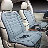 Rumas Car Heated Seat Cushion Cover Auto 12V Heating Heater Warmer Mat (gray)