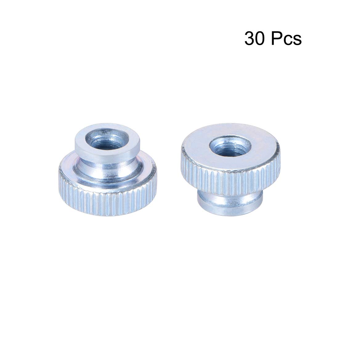 sourcing map Knurled Thumb Nuts Zinc Plating Pack of 10 M5 Round Knobs with Collar