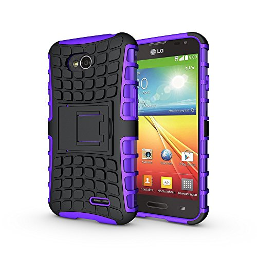 LG Optimus Exceed 2 Case, LG Optimus L70 Case, Nicelin Hard PC Material Cover and Silicone Inner Holder 2 in 1 Stand Case for LG Optimus L70 / Optimus Exceed 2 [NOT FOR LG Optimus Exceed ] (Purple)