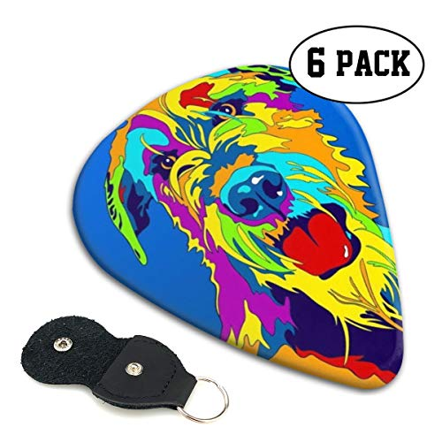 [해외]Xzyauza Multi-Color Irish Wolfhound Dog 6 Pack Celluloid Guitar Picks Mandolinand Bass 0.46mm 0.71mm 0.96mm Optional / Xzyauza Multi-Color Irish Wolfhound Dog 6 Pack Celluloid Guitar Picks Mandolin,and Bass 0.46mm, 0.71mm, 0.96mm O...