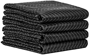 Moving Blankets 4 Pack Set Size 72 X 80 Perfect For Large And Heavy