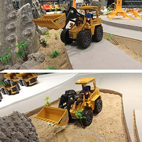 LQQZZZ Rc Construction Vehicles Large Excavator 2.4G Wireless Remote Control Bulldozer 10 Channel 25 Minutes Use Time Christmas Birthday Gift