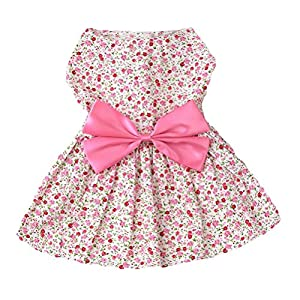 New Summer Pet Dog Cats Tutu Dress Shirt For Small Dogs Pink XL