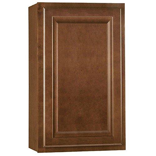 (Hampton Bay 18x30 in. Cognac Maple Wall Kitchen Cabinet )