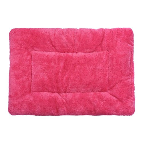 Celendi Pet Cushion Dog Cat Bed Doggie Puppy Soft Sleep Mat, Warm for Spring and Winter (Hot Pink)