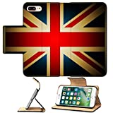 MSD Premium Apple iPhone 7 Plus Flip Pu Leather Wallet Case Vintage British Flag IMAGE 20870872