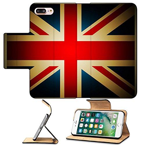 MSD Premium Apple iPhone 7 Plus Flip Pu Leather Wallet Case Vintage British Flag IMAGE 20870872