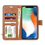 Mobi Case Classy Cloth + Pu Leather Flip Case Cover with Card Holder/Magentic Closure/Kickstand (Grey&Brown) for New…
