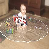 Nuby Floor Mat for Baby, Plastic Play Mat,  Waterproof High Chair Floor Protector, Splat Mat,  Multi-Purpose Playmat for Playing and Feeding, Clear, 50 Inches Diameter