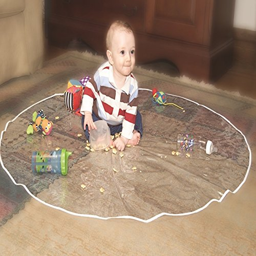 Jeep Floor Mat, Plastic Play Mat, Waterproof High Chair Floor Protector, Splat Mat, Multi-Purpose Playmat for Playing and Feeding, Clear, 50 Inches Diameter by Jeep (Image #4)