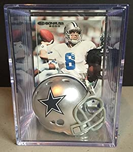 Dallas Cowboys NFL Helmet Shadowbox w/ Troy Aikman card