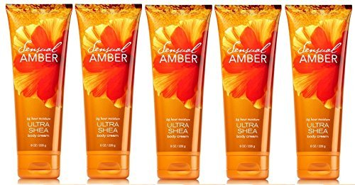 - Bath and Body Works Sensual Amber Body Cream 8oz Set of 5