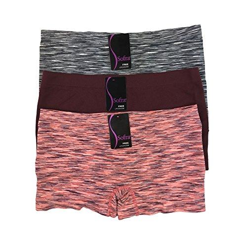 In Boys Panties (3 Pack Boyshorts Panties for Women in various sassy styles (SpaceDye-3pk))