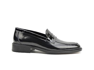 ec9bfcbc2ea DIS Uliassi - Shiny Black Penny Loafer  Amazon.co.uk  Shoes   Bags