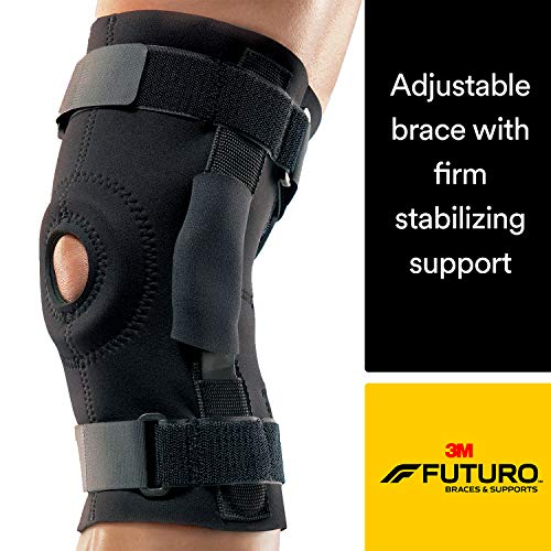 (Futuro Hinged Knee Brace, Firm Stabilizing Support, Adjust to Fit, Black)