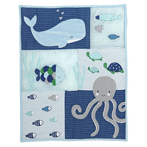 Lambs Amp Ivy Oceania 6 Piece Baby Crib Bedding Set Blue