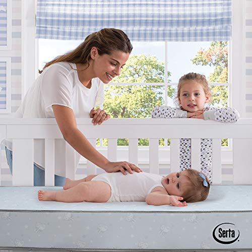 Serta Perfect Start Fiber Core Crib And Toddler Mattress Waterproof Lightweight GREENGUARD Gold Certified (Natural/Non-Toxic)
