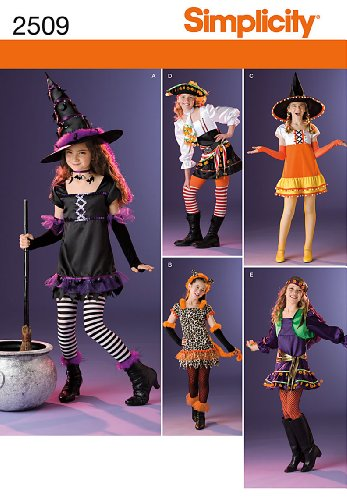 Simplicity Sewing Pattern 2509 Girls Costumes, A (7-8-10-12-14) -