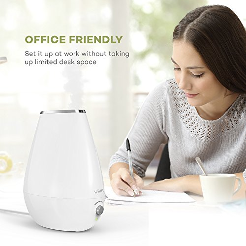 VAVA Cool Mist Humidifier Space-Saving Ultrasonic Bedroom Babies Nursery, Whisper-Quiet, Filter Free, 360° Nozzle, Automatic Shut-Off (Certified refurbished) by VAVA (Image #8)