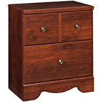 Ashley Furniture Signature Design - Brittberg Nightstand - American Craftsman Style - Reddish Brown
