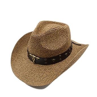 GHC gorras y sombreros Mujeres Hombres Hollow Western Cowboy Hat ...
