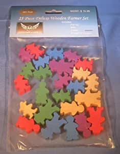 Agricola Meeples -25 Deluxe Wooden Farmer Set