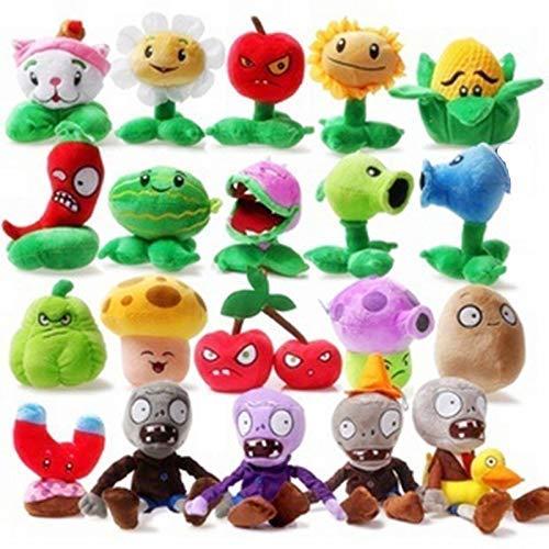 hkp Stuffed & Plush Plants 20pcs/Set Plants vs Zombies Lovely Plush&Stuffed Toys Popular Games PVZ Hot Doll Creative Birthday Gifts for Kids 1 PCs by hkp