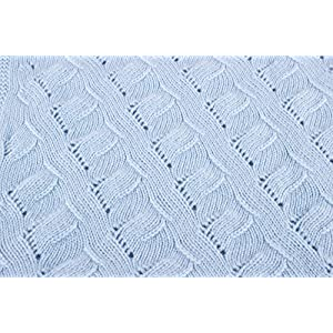 Boys Luxury 100% Cashmere Baby Blanket – 'Baby Blue' – Hand Made in Scotland by Love Cashmere – RRP $300