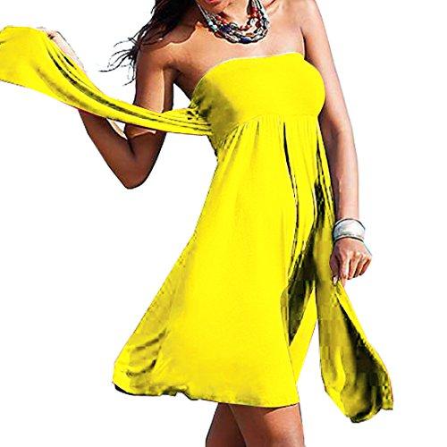 Swimwear da SiDiOU Moda del da festa Sexy Gonne costume del spiaggia dello Giallo donne le Group vestito per cassa Vestito pannello esterno spostata wttrRpqf