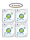 Pack of 4 - all Liquid Laundry Detergent Free Clear for Sensitive Skin, 141 Ounce, 94 Loads