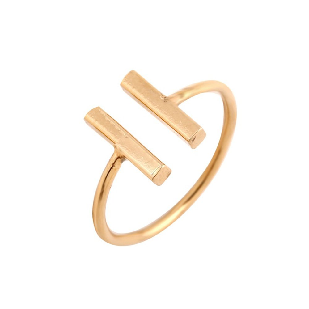 MINGHUA Double T Adjustable Ring Open Ring Girls