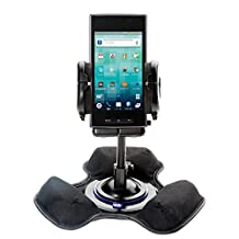 Two Mounts in One: Universal Dashboard Mount and Flexible Windshield Suction Mounts for Sony Ericsson Xperia ion Provide Options for Securing Your Device