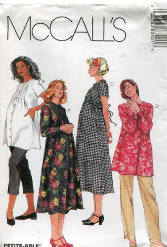 - McCall's Pattern 8342 ~ Maternity Dresses, Top, Pull-on Pants and Capri Pants ~ Sizes 8-10-12