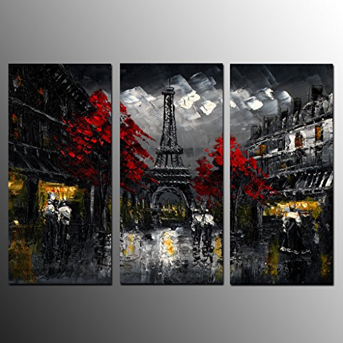 Tower Small Poster - KuyiArt- 3Panels Canvas Wall Art,Framed Art and Stretched Prints for Wall Decoration, Giclee Canvas Print, Effiel Tower-Small