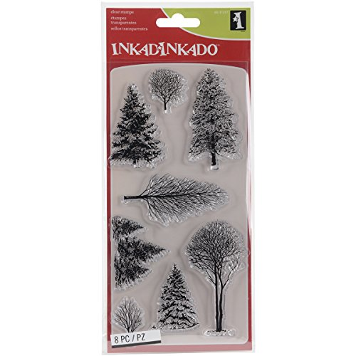 - Incardinate Christmas Woodland Wonderland Unmounted Clear Rubber Stamp Set for Cards and Scrapbooking, 4'' L x 8'' H, 8 pc.